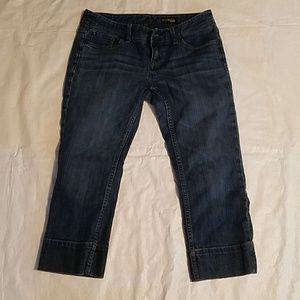 Express Crop Blue Jeans Size 6